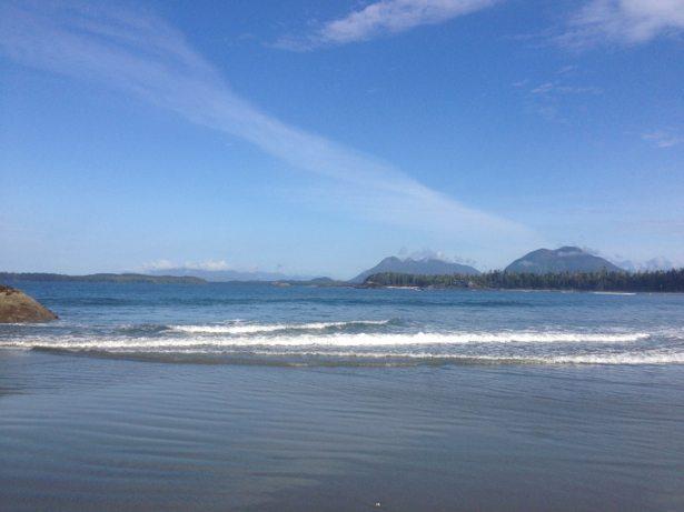 sunny tofino beach