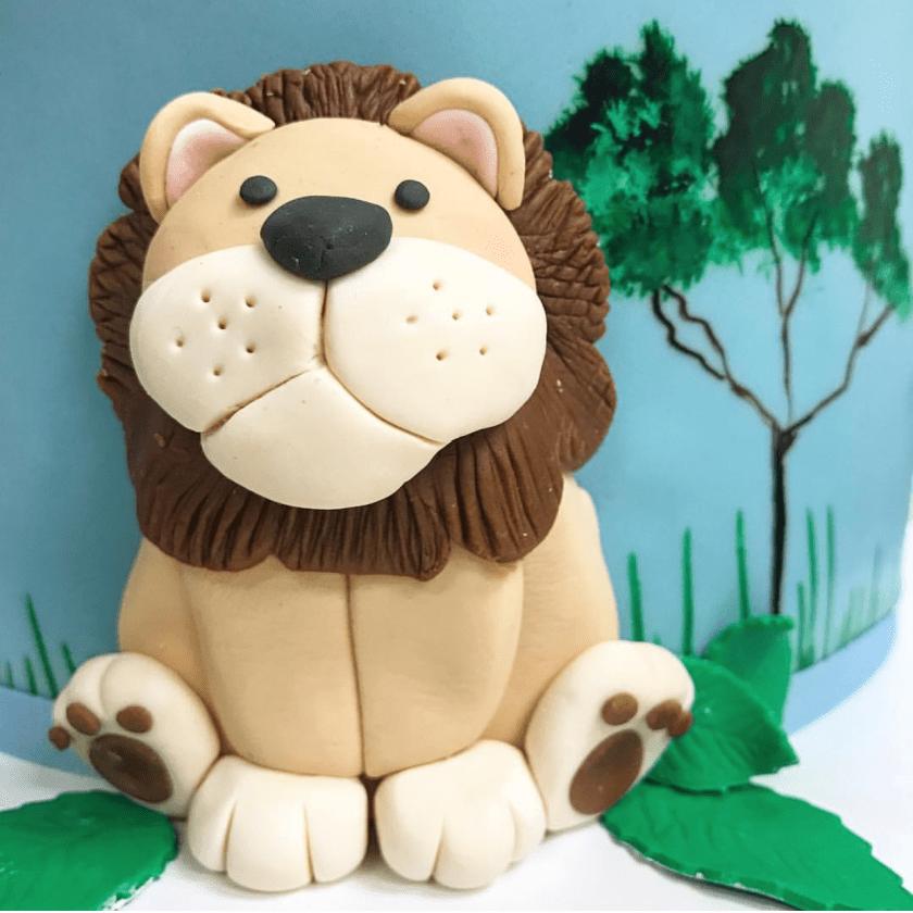 lion-fondant-cake