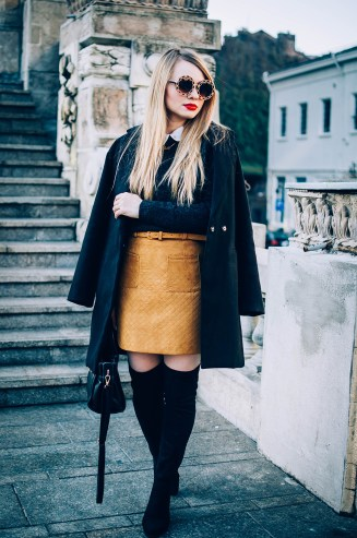 brown-pockets-a-line-skirt-over-the-knee-boots-10
