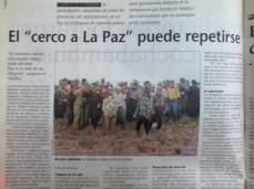 Memoria de guerra: cerco a La Paz (La Prensa, abril del 2000)