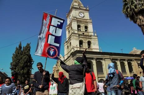 Marcha estudiantil del 31 de julio, contra la toma de los grupos de choque (Foto: Chaski Clandestinx)