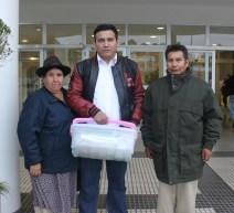 Padres de John Copaga acompañan a su hijo hasta Argentina (Foto: Chaski Klandestino, 22-sept.-2015)