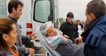 Arribo de John Copaga al Hospital El Cruce Dr. Néstor Kirchner (Foto: Chaski Klandestino, 22-sept.-2015)