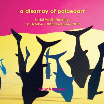 """Cover image for Gareth Monger's """"A Disarray of Palaeoart"""""""