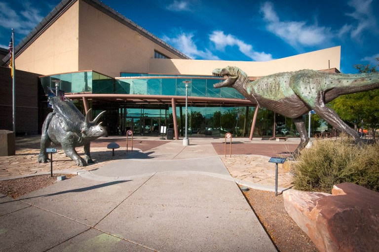 Front of the New Mexico Museum of Natural History and Science