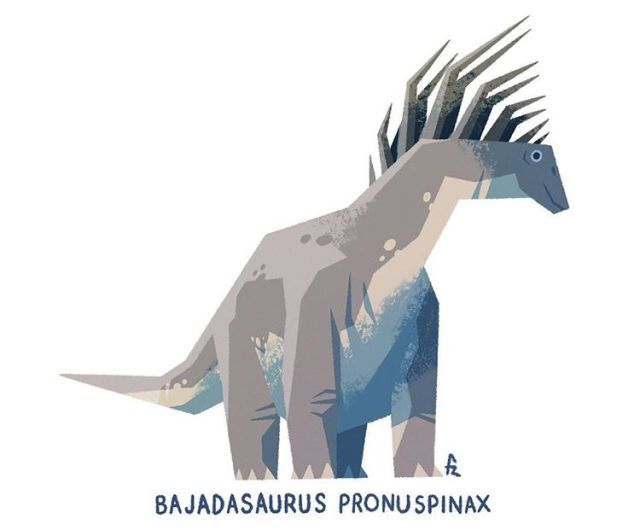 Bajadasaurus illustration,  © Francisco Riolobos. Shared here with the artist's permission.
