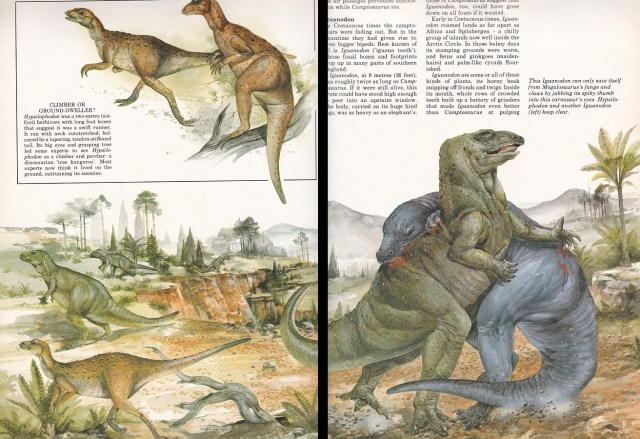 Iguanodon and friends by mystery artist