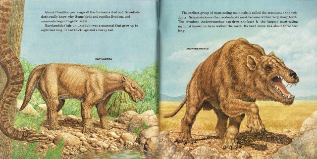 Barylambda and Andrewsarchus by Peter Zallinger