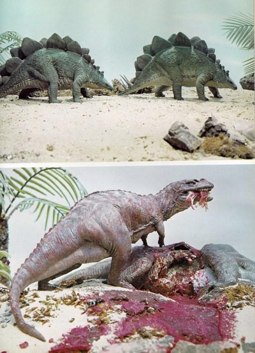 Stegosaurus and Ceratosaurus, G. Kinns and Arthur Hayward