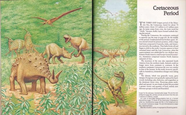 Late Cretaceous scene by Peter Zallinger
