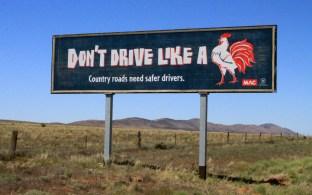 Australian road sign.