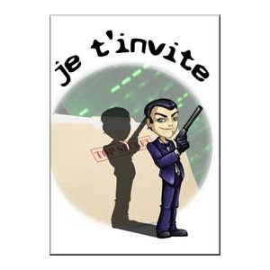 carte invitation espionnage chasse au tresor