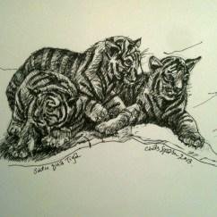 Tiga Harimau (Three tigers)