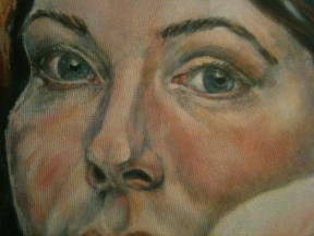Portrait of a Young Woman - detail stage 4