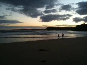 Last rays at Smiths Beach