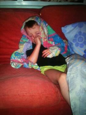 Sleep on a sofa