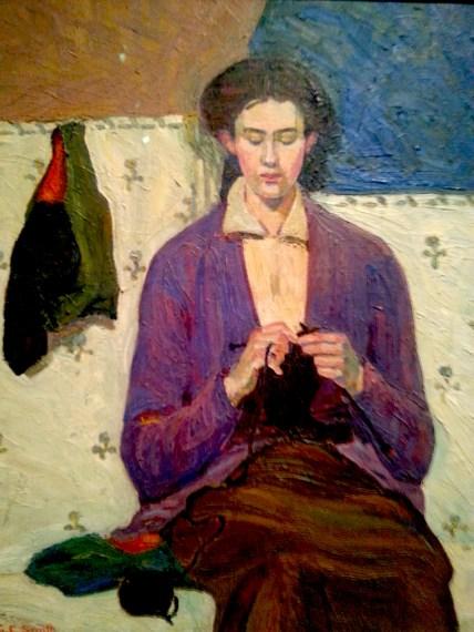 The Sock Knitter Grace Cossington Smith 1915