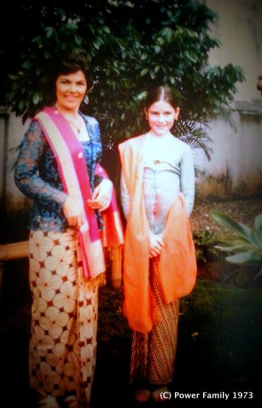 Mum and I in traditional Javanese dress