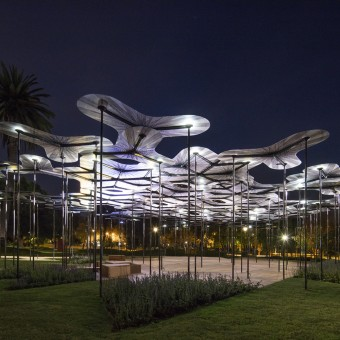 MPavilion at night from http://www.mpavilion.org