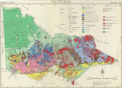 Geological Map of Victoria created 1966