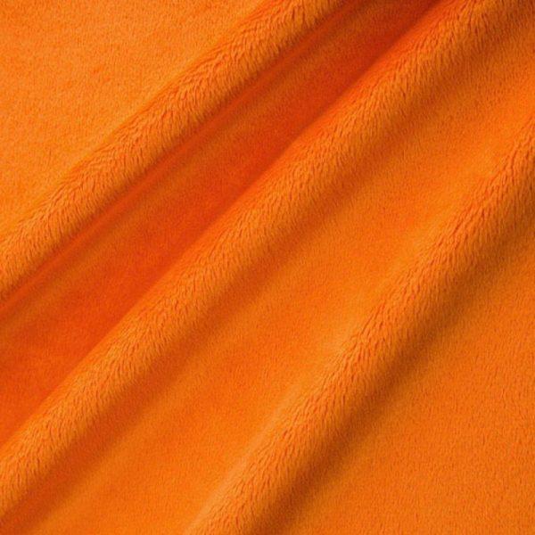 Tissu Minky orange pour création Petit coussin par Georgia