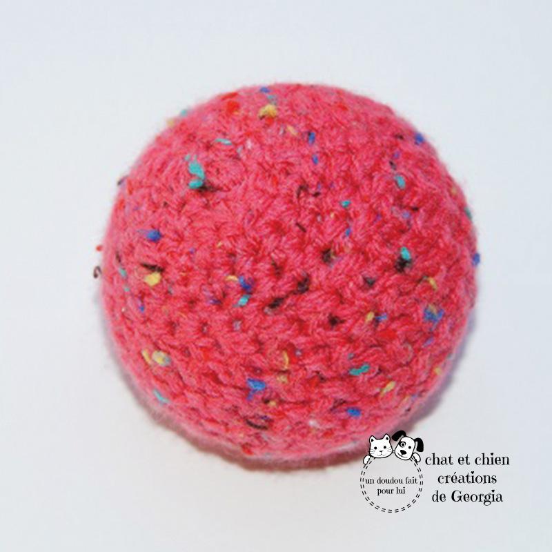 Ballaine mouchetée rose créée par Georgia