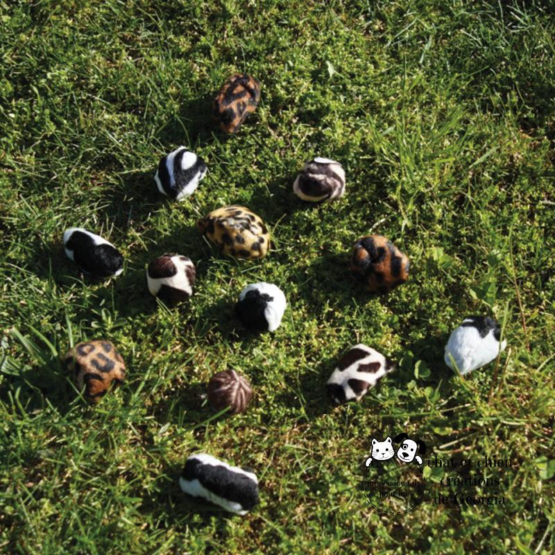 Balles à Papy, jouets créés pour chat par Georgia