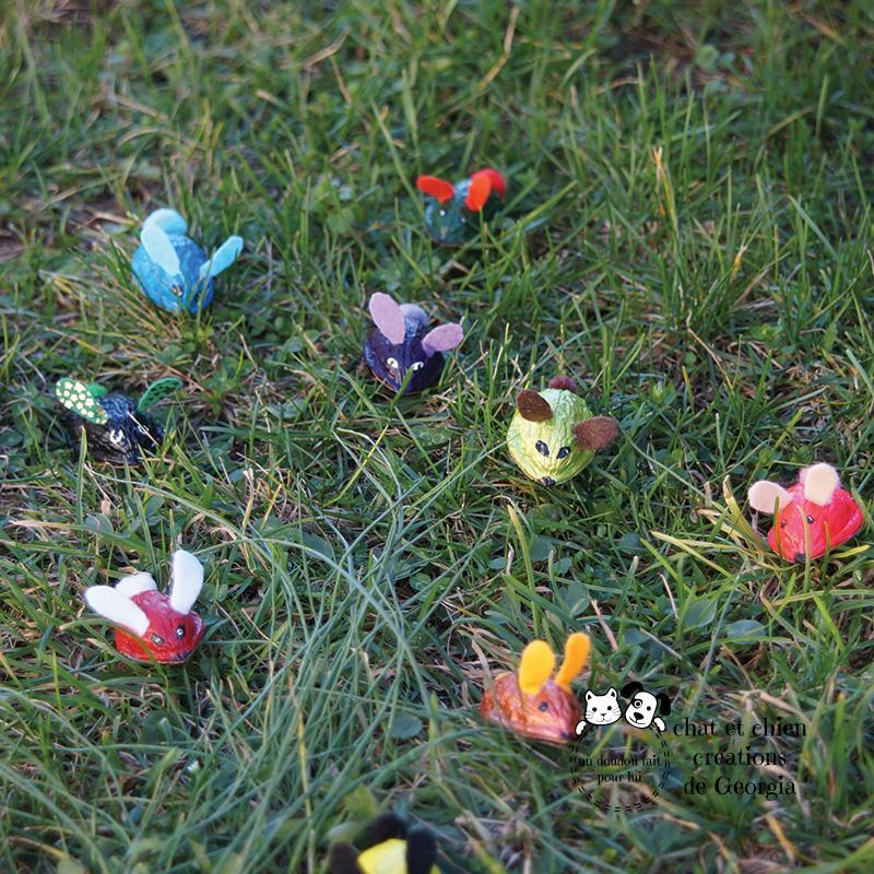 Lapins-noix, jouet pour chat créé par Georgia