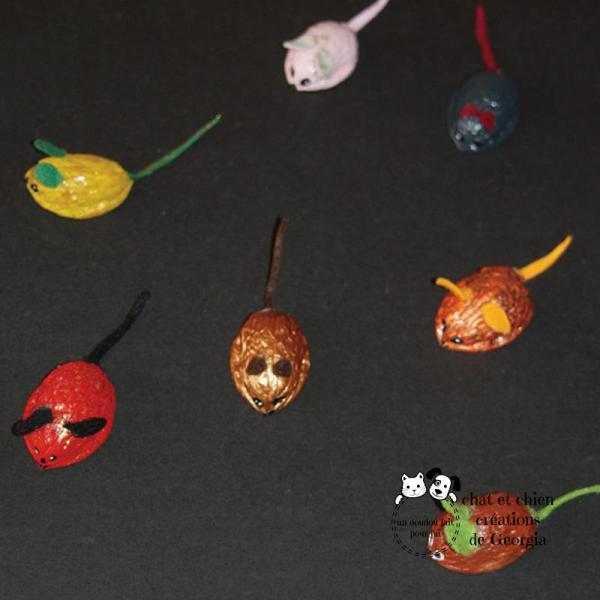 souris-noix, jouet créé par Georgia pour les chats