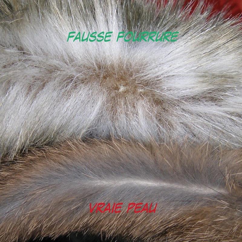 Comparatif entre vraie et fausse fourrure