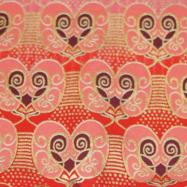 Tissu Wax rose et doré
