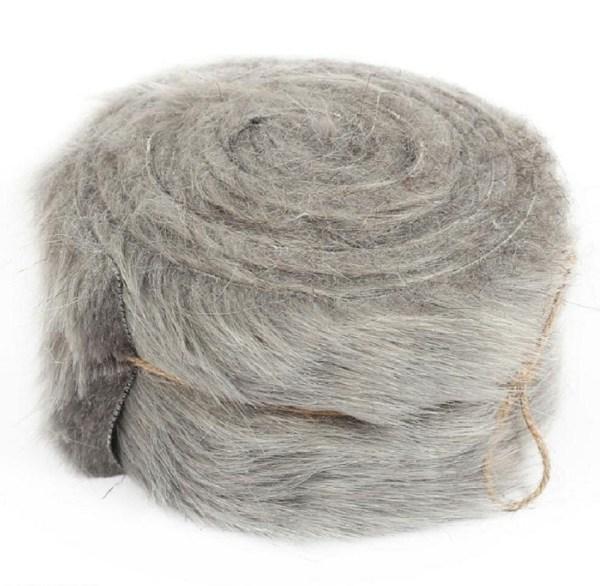 rouleau tissu synthétique coloris gris pour création Serpenpoil par Georgia
