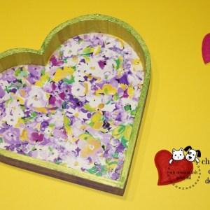 Plateau coeur et fleuri créé par Georgia