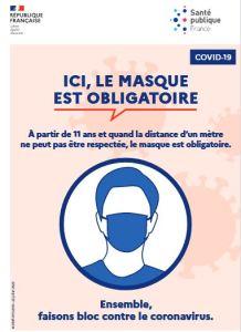 masque obligatoire à partir de 11 ans