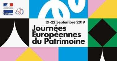 Bandeau représentant les Journées Européennes du Patrimoine 2019
