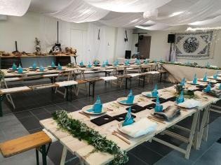 Salle centrale - Configuration mariage