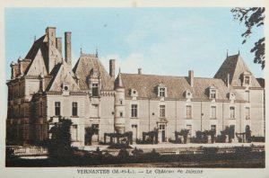 chateau de jalesnes hotel loire valley france postcard