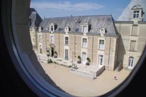 chateau de jalesnes loire valley france clock tower view