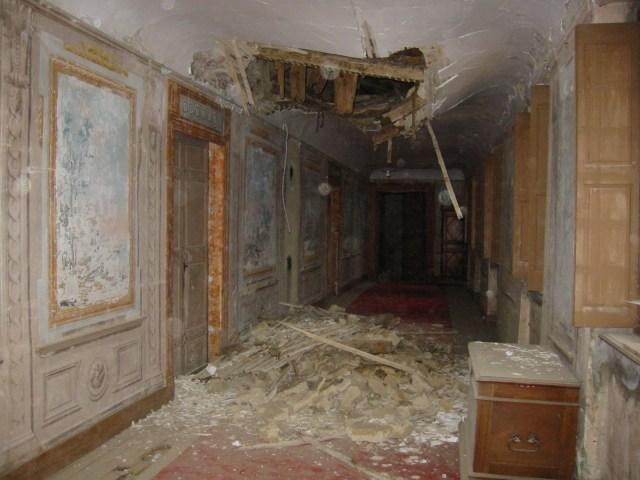 Le toit de la galerie de Saconay s'est effondré