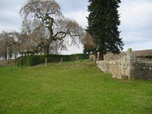Saconay - Un simple talus permettait de descendre sous la terrasse