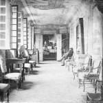 Saconay - La galerie avec plafond peint et tomettes au sol