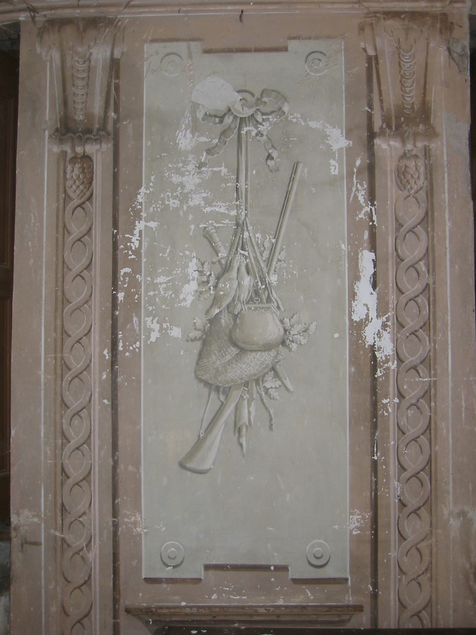 Saconay - Fresque en grisaille de la galerie
