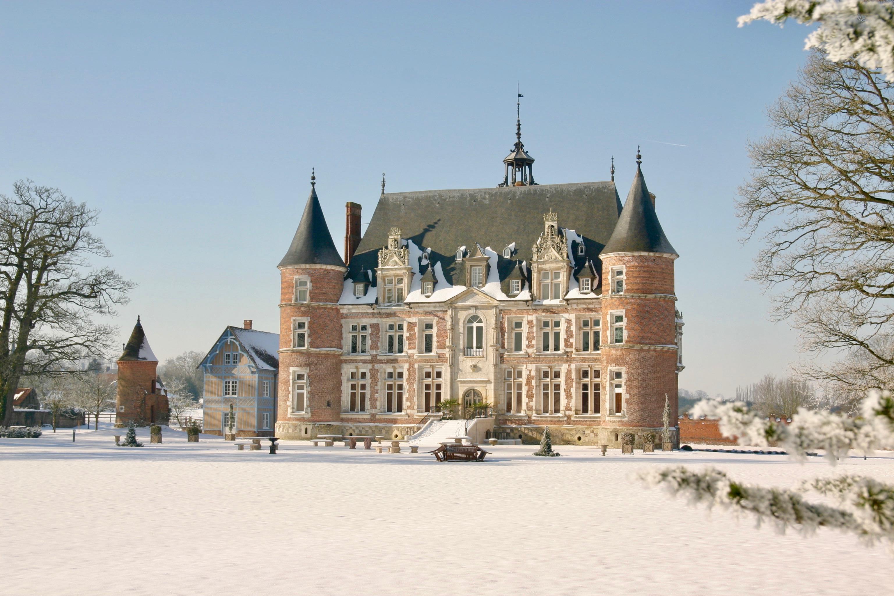 Château Tilly - Présentation - Extérieur - Neige