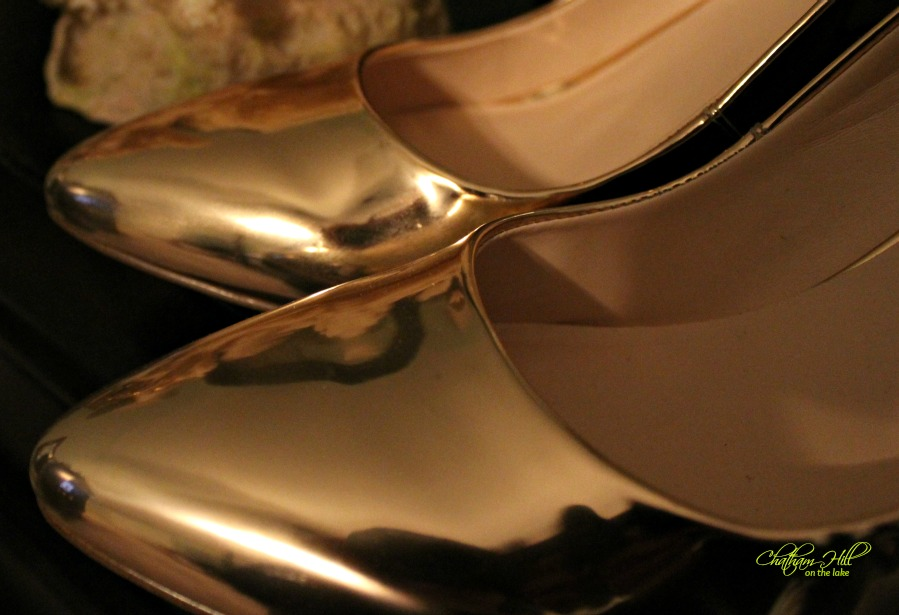Rose Gold Shoes www.chathamhillonthelake.com