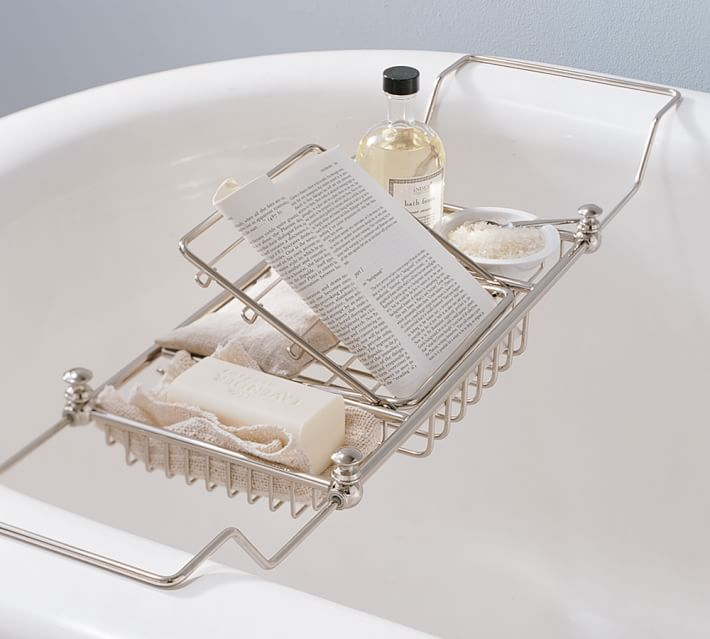 Pottery Barn bath tub tray www.chathamhillonthelake.com