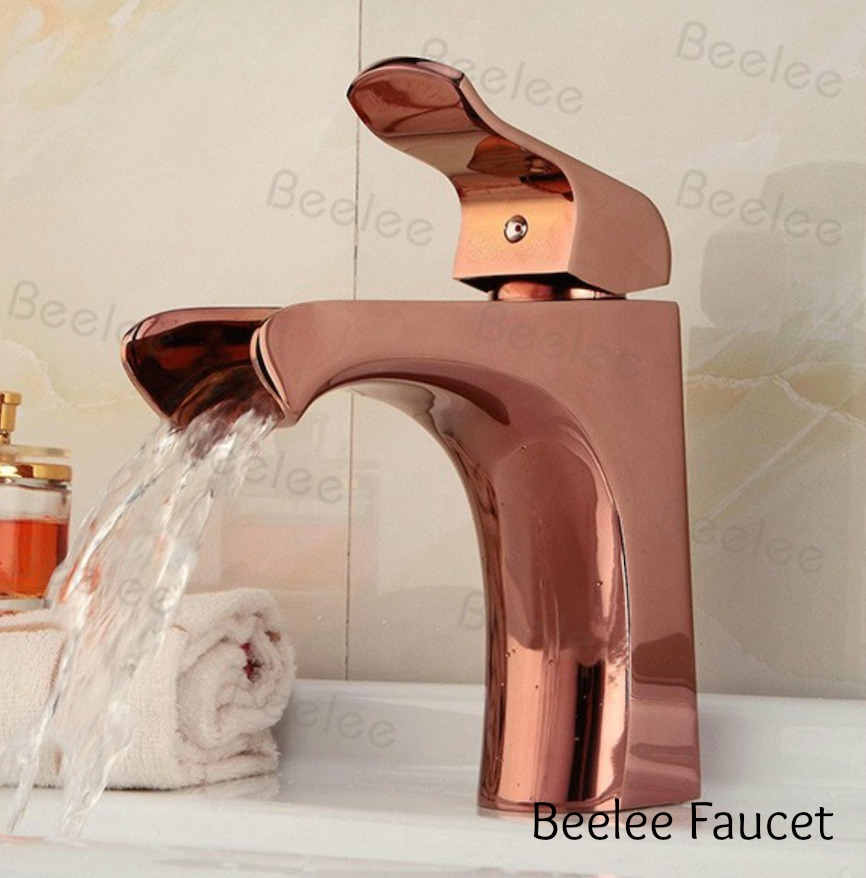 rose gold waterfall faucet www.chathamhillonthelake.com
