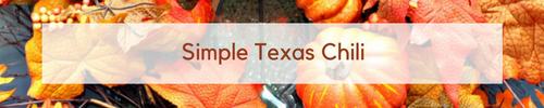 Simple Texas Chili www.ducttapeanddenim.com