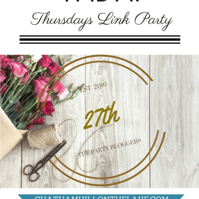 TADA! Thursdays Link Party 27th Edition