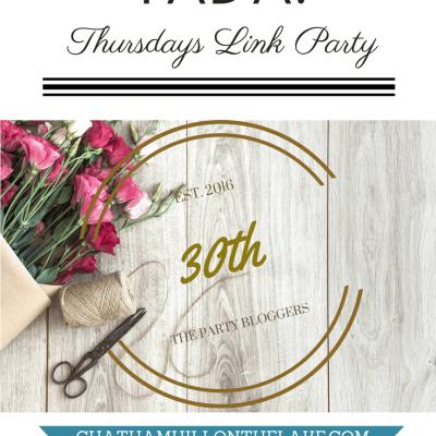 TADA! Thursdays Link Party #30