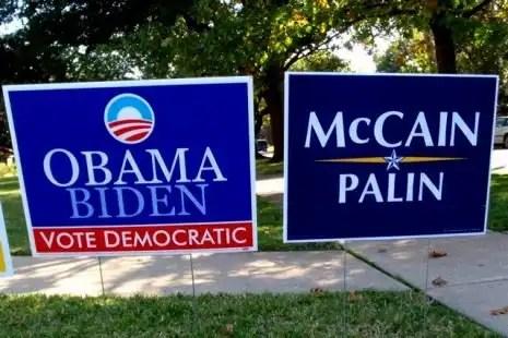 Political yard sign